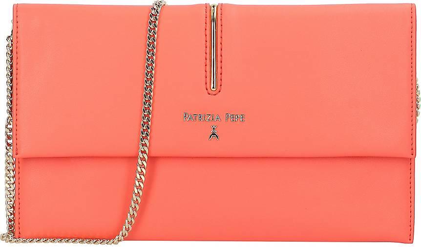 Patrizia Pepe Piping Clutch Tasche Leder 27 cm