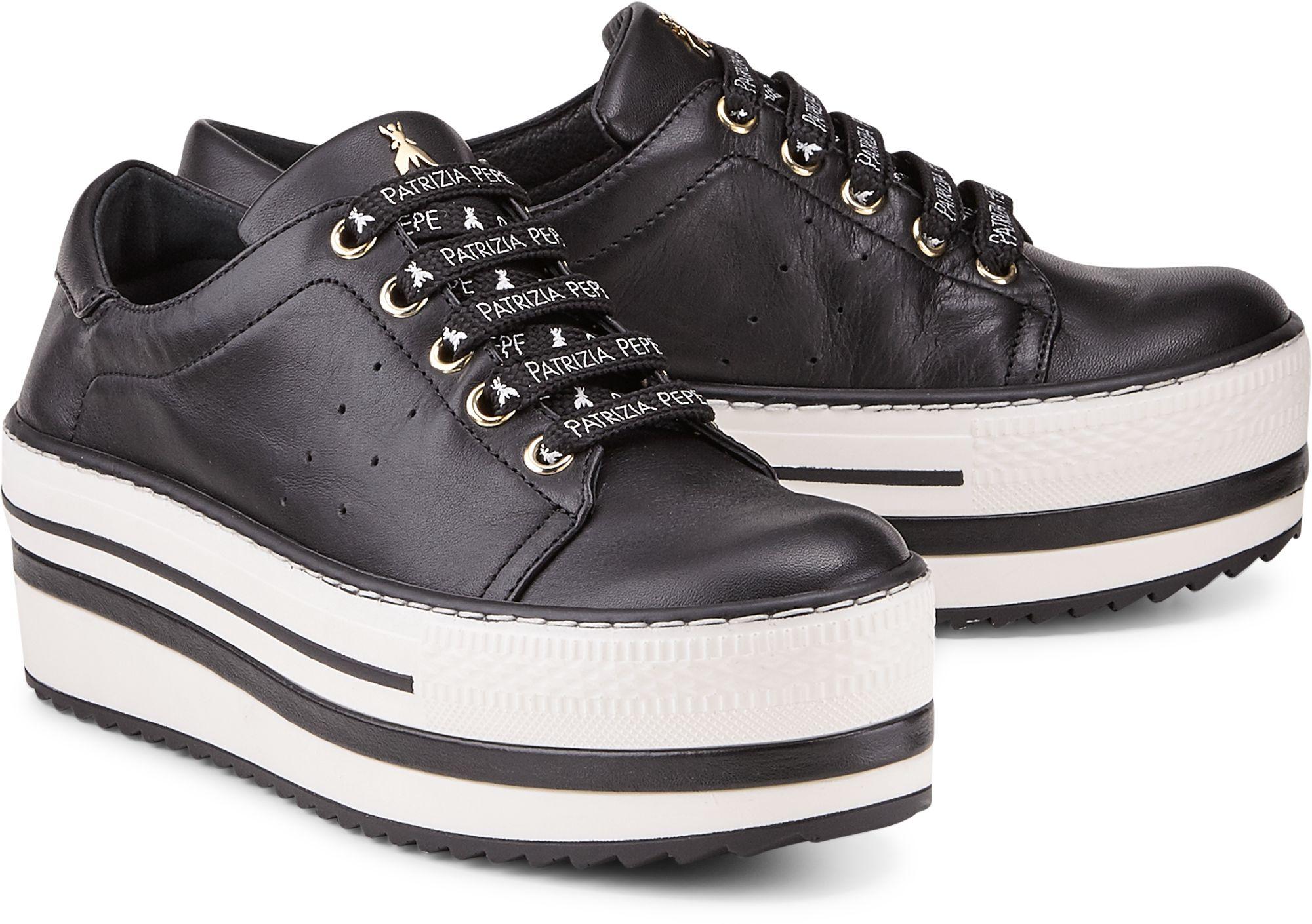 Plateau Sneaker von Patrizia Pepe in schwarz für Damen. Gr. 36,37,38,39,40,41