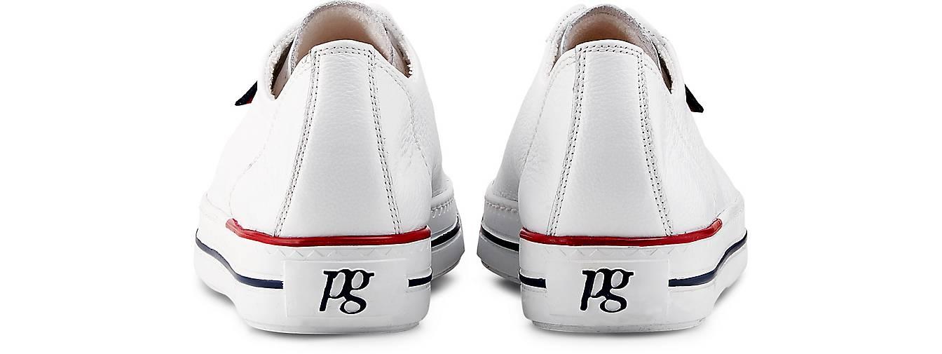 Paul Green Leder Sneaker weiß | GÖRTZ 48392401