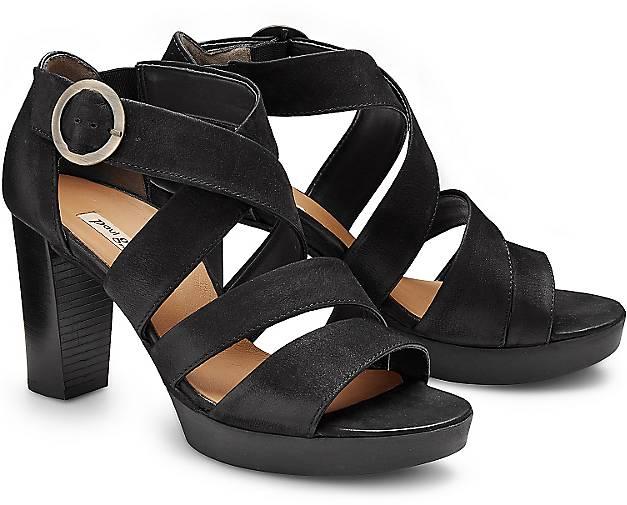 Paul Green Damen Sandalen Sandalette schwarz schwarz T9xshhm1