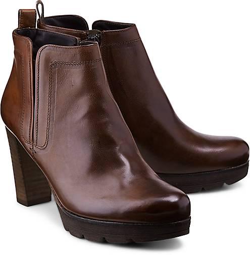 Paul Green - Plateau Stiefeletten / High Heels aus Leder in Schwarz - Gre 40