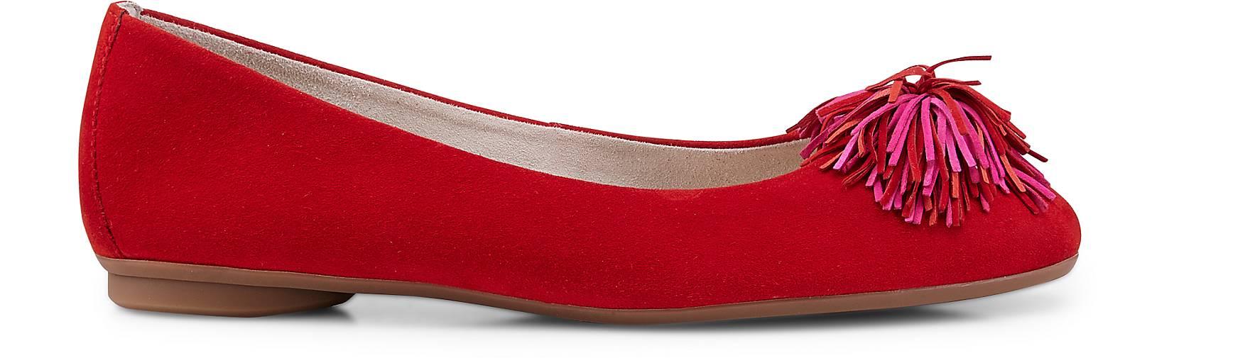 Paul Grün Velours-Ballerina in rot rot rot kaufen - 47549001 GÖRTZ Gute Qualität beliebte Schuhe d4b642