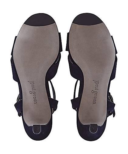 Paul Green Velours-Sandalette in blau-dunkel GÖRTZ kaufen - 47359301 | GÖRTZ blau-dunkel 11cf95