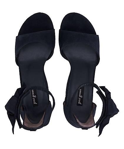 Paul Grün Velours-Sandalette in blau-dunkel kaufen - - - 48393702 GÖRTZ Gute Qualität beliebte Schuhe ec34c1