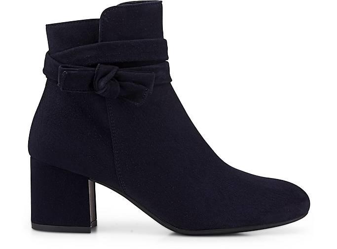 Paul Green Velours-Stiefelette in blau-dunkel GÖRTZ kaufen - 46882701 | GÖRTZ blau-dunkel 944bc0