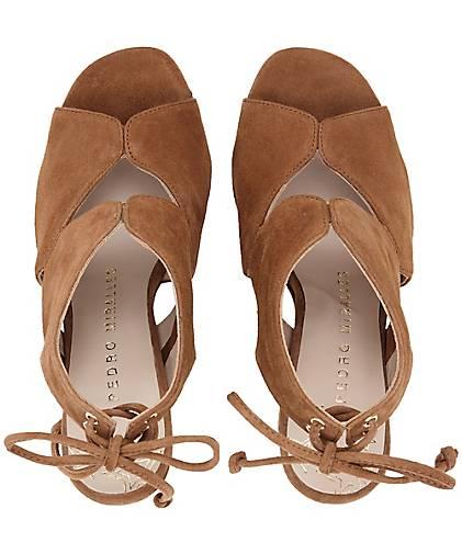 Pedro Pedro Pedro Miralles Peeptoe-Sandalette in braun-mittel kaufen - 48470602 GÖRTZ Gute Qualität beliebte Schuhe ae286a