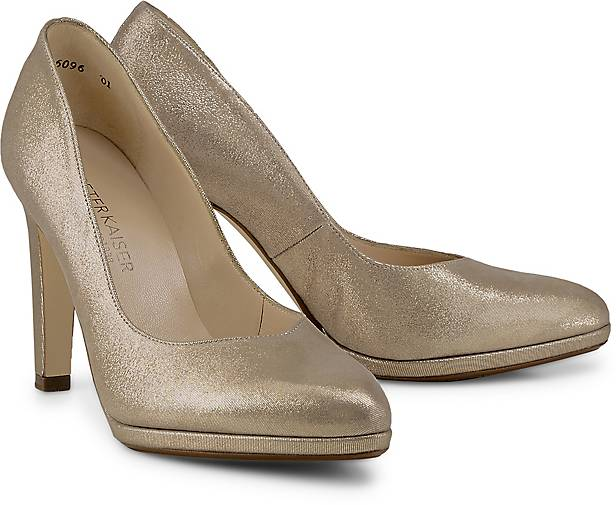Stilvoll Kennel & Schmenger Gold Pumps Mit Absatz Damen