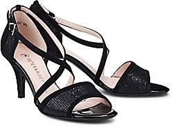 Peter Kaiser »Boliva« Sandalette, mit glänzenden Details, schwarz, schwarz