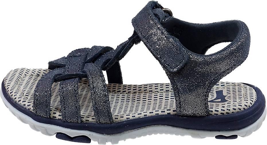 Pio Sandale Mädchen-Glittersandale mit Klettverschluss