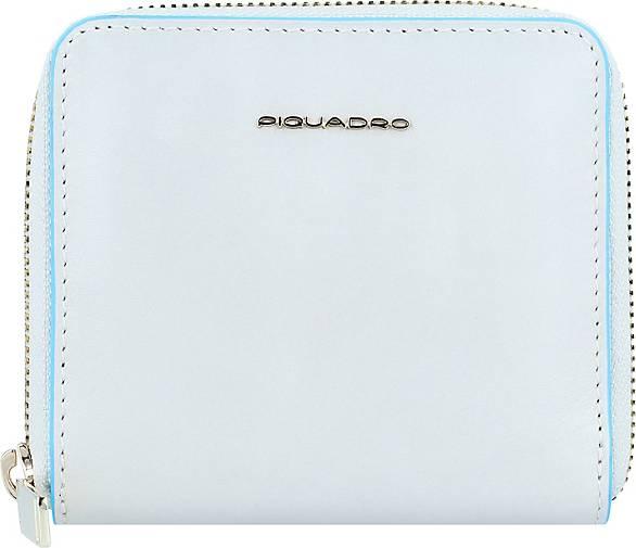 Piquadro B2 Blue Square Geldbörse RFID Leder 11 cm