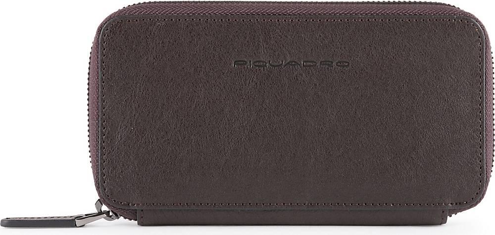 Piquadro, Black Square Handytasche Leder 17 Cm in mittelbraun, Handyhüllen & Zubehör für Damen