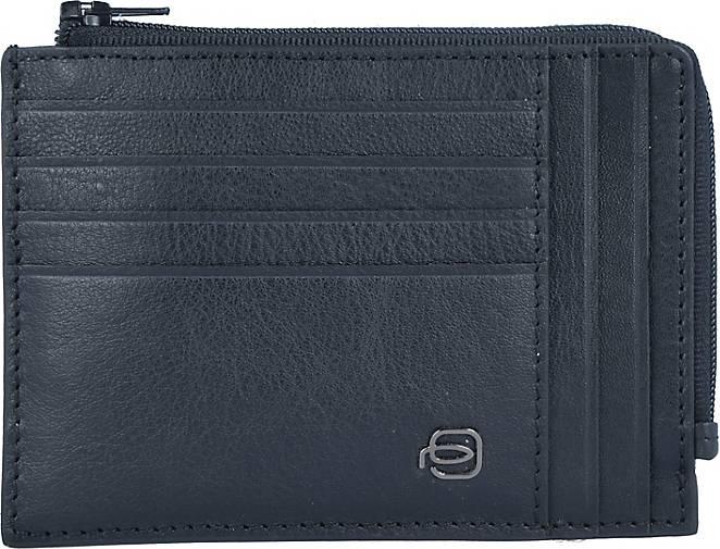 Piquadro Blue Square Special Kreditkartentetui RFID Leder 12 cm
