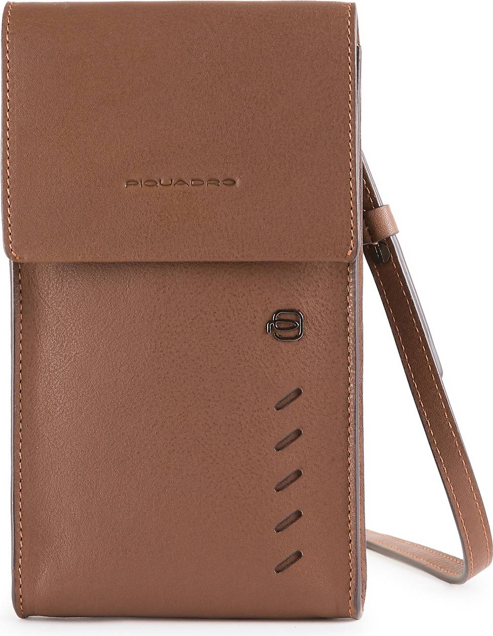 Piquadro, Nabucco Handytasche Leder 11 Cm in mittelbraun, Handyhüllen & Zubehör für Damen