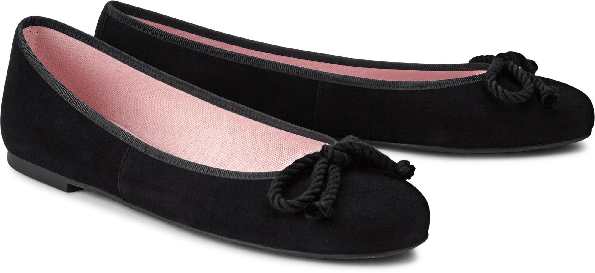c9c5ee2db78976 Nubuk Ballerina von Pretty Ballerinas in schwarz für Damen. Gr.  37