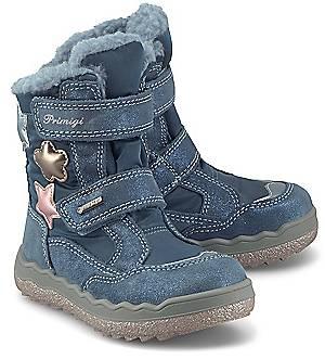 Primigi, Klett-Winterstiefel in dunkelblau, Stiefel für Mädchen