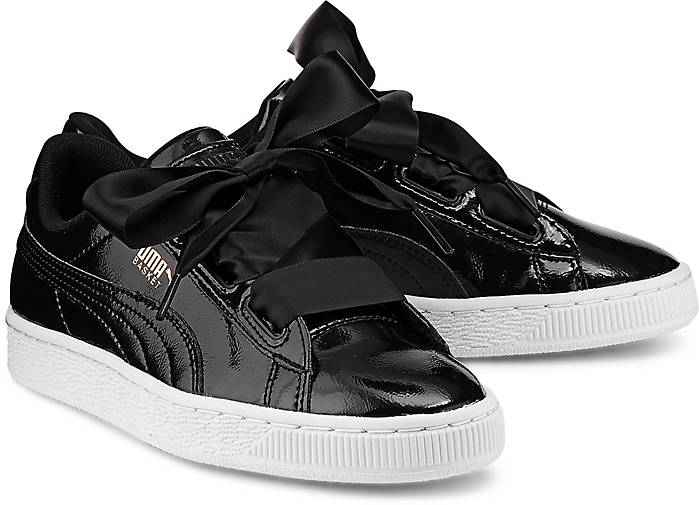 puma basket heart schwarz kinder