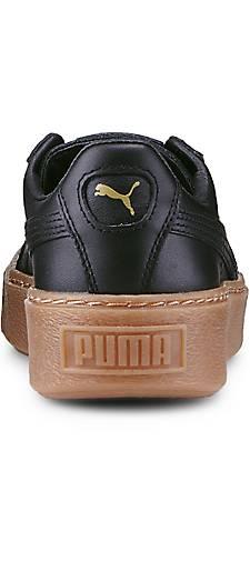 puma basket platform core in schwarz kaufen 46000901 g rtz. Black Bedroom Furniture Sets. Home Design Ideas