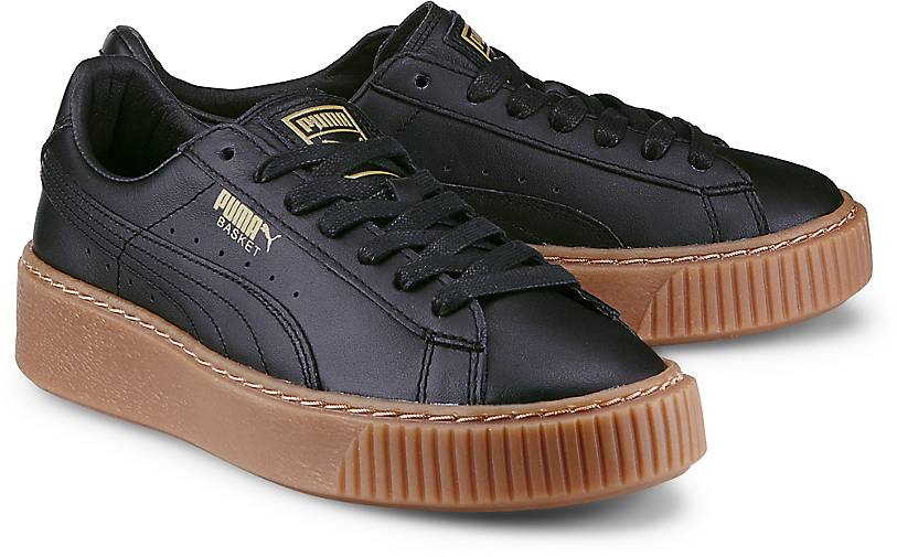 puma sneaker basket platform schwarz