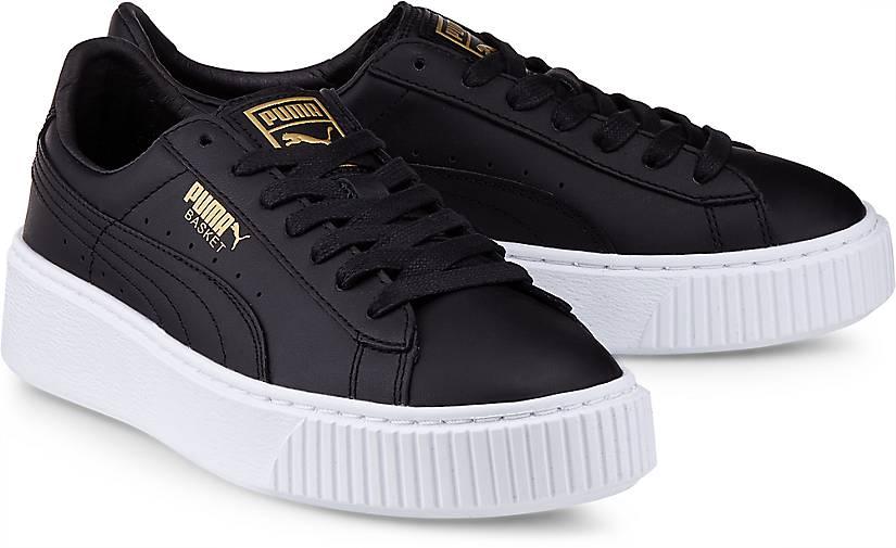 puma basket platform core sneaker low schwarz g rtz. Black Bedroom Furniture Sets. Home Design Ideas