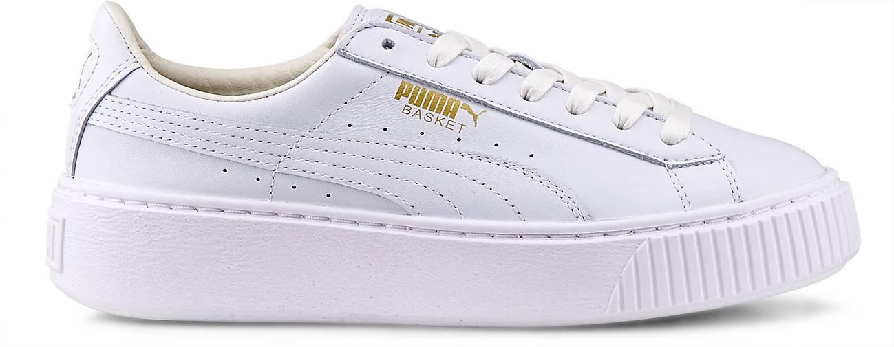 Puma BASKET PLATFORM CORE in weiß kaufen - 46498102 beliebte | GÖRTZ Gute Qualität beliebte 46498102 Schuhe acccd3