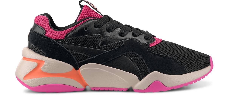 Puma Sneaker Nova Urban Schwarz Pink Damen Schuhe