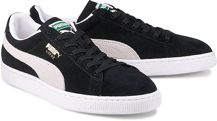 SUEDE CLASSIC+ - Sneaker low - black