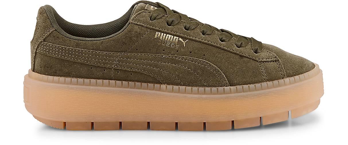 Puma SUEDE PLATFORM TRACE in khaki kaufen Qualität - 47035201 GÖRTZ Gute Qualität kaufen beliebte Schuhe 35e20b