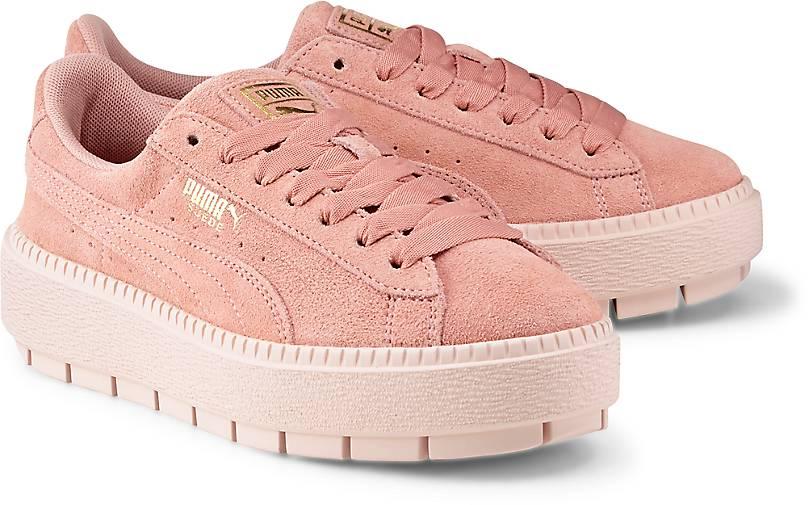 puma suede platform trace sneaker rosa g rtz. Black Bedroom Furniture Sets. Home Design Ideas