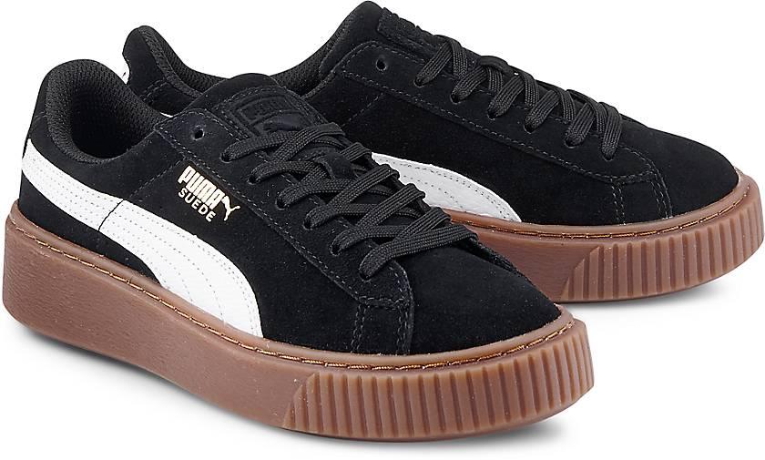 puma suede platform sneaker schwarz g rtz. Black Bedroom Furniture Sets. Home Design Ideas