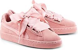 puma schuhe damen schleifen rosa