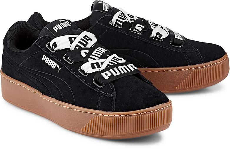puma vikky platform schwarz