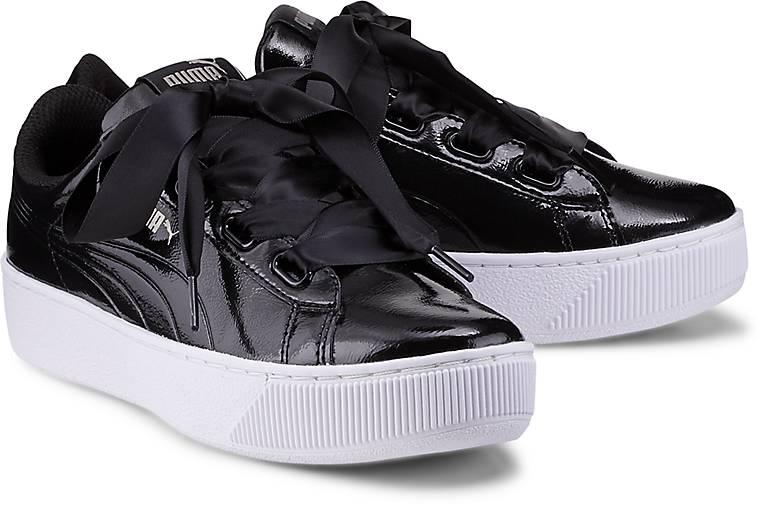 puma vikky platform ribbon sneaker schwarz g rtz. Black Bedroom Furniture Sets. Home Design Ideas