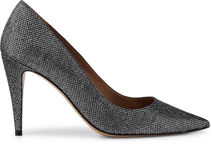 Pura Lopez Glitzer-Pumps in silber kaufen Qualität - 46737812 GÖRTZ Gute Qualität kaufen beliebte Schuhe 83f884