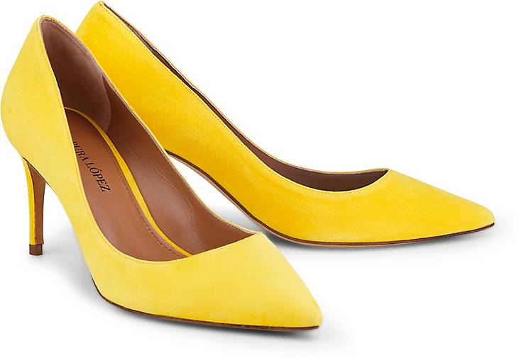 Pura Lopez Velours-Pumps