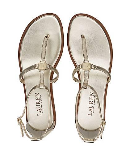 Ralph Lauren Leder-Sandale NALAINE in Gold - kaufen - Gold 48005003 GÖRTZ Gute Qualität beliebte Schuhe 285500