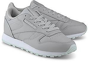 Reebok Classic, Classic Leather in grau, Sneaker für Damen