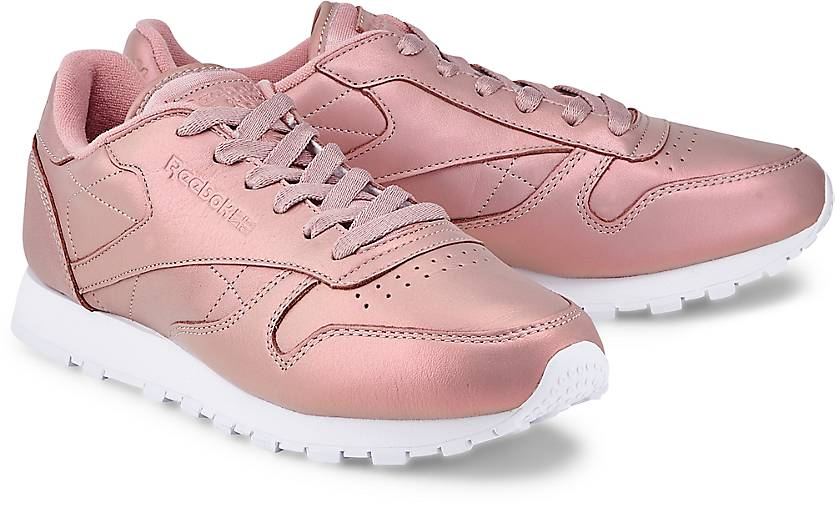 reebok classics leather pearlized sneaker low rosa. Black Bedroom Furniture Sets. Home Design Ideas