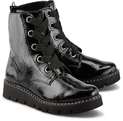 Remonte Schnür Boots schwarz