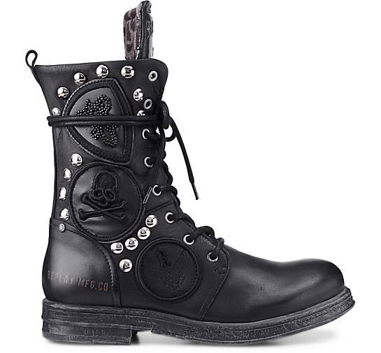 Replay Biker-Stiefel JOPLYN in schwarz kaufen Gute - 47696801 | GÖRTZ Gute kaufen Qualität beliebte Schuhe ec2d62