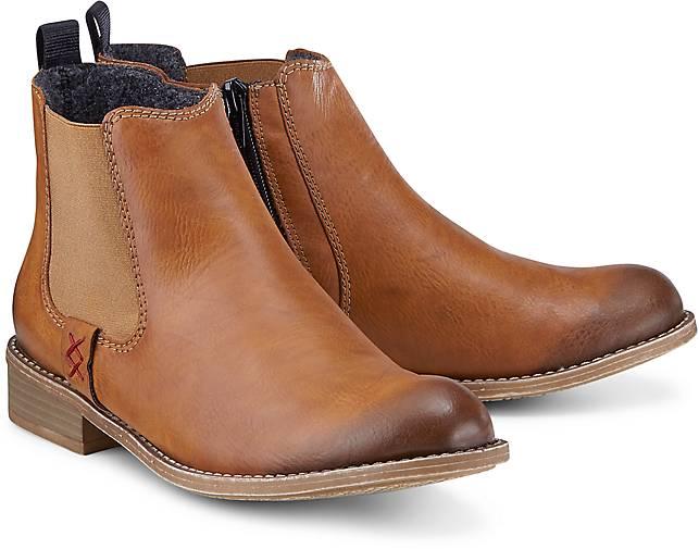 rieker herren b1582 chelsea boots braun havanna navy 26 43 eu. Black Bedroom Furniture Sets. Home Design Ideas
