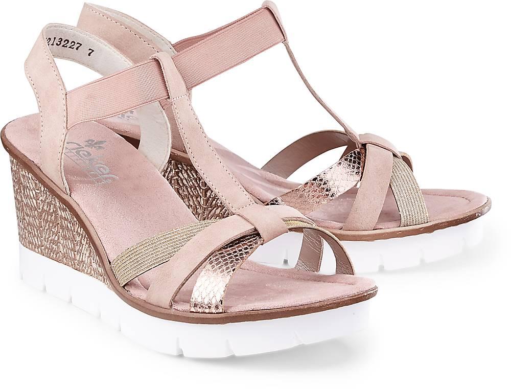 Keil-Sandalette von Rieker in rosa für Damen. Gr. 39 Preisvergleich