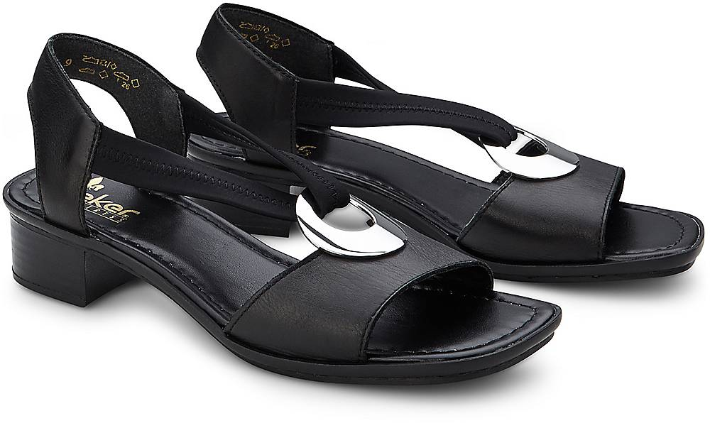 Komfort-Sandale von Rieker in schwarz für Damen. Gr. 36,37,38,39,40,41 Preisvergleich