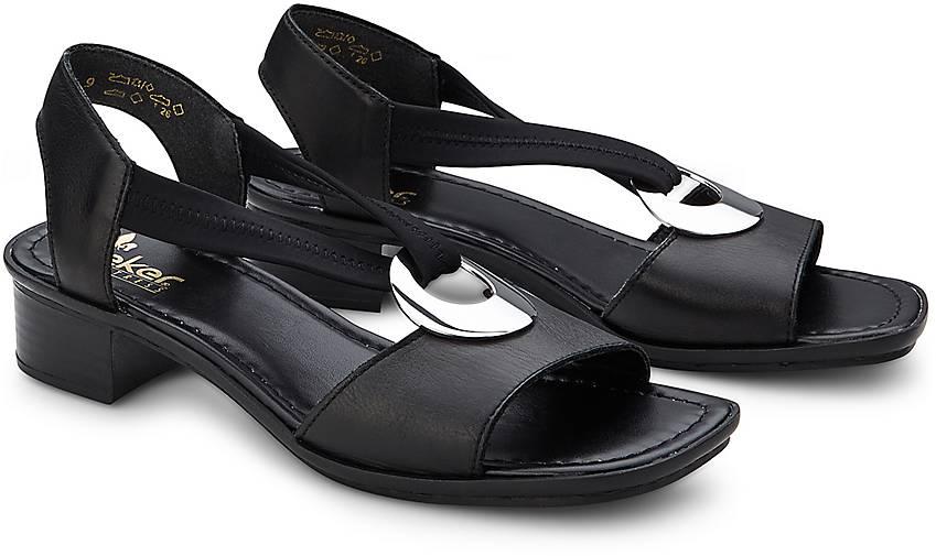 rieker komfort sandale in schwarz kaufen 65372601 g rtz. Black Bedroom Furniture Sets. Home Design Ideas