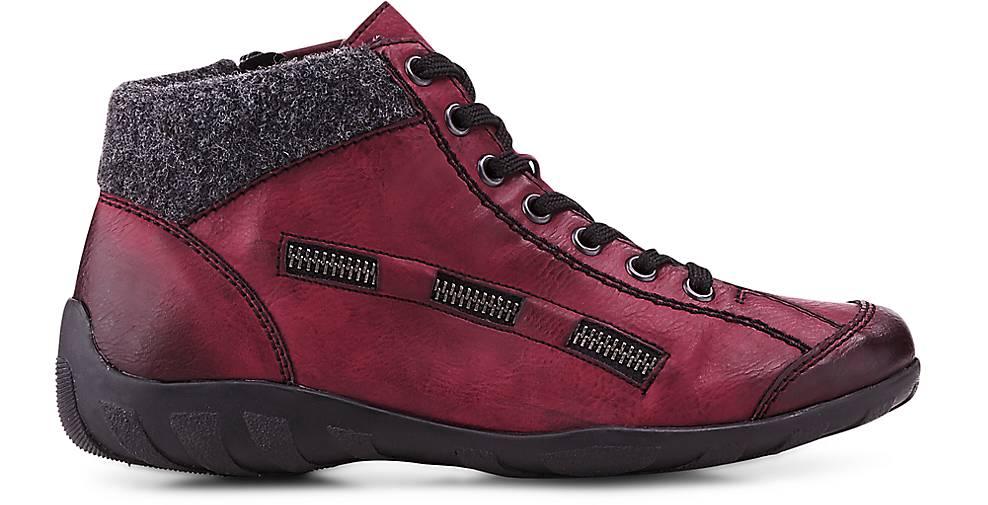 Rieker Schnür-Stiefelie in rot kaufen - Gute 46484101 GÖRTZ Gute - Qualität beliebte Schuhe 2e6fd2