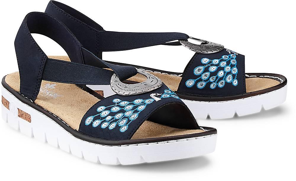 Sommer-Sandale von Rieker in blau für Damen. Gr. 38 Preisvergleich