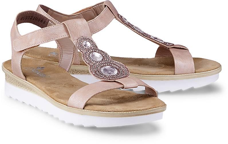 Sommer Sandale von Rieker in rosa für Damen. Gr. 36,37,38,39,40,41,42 Preisvergleich