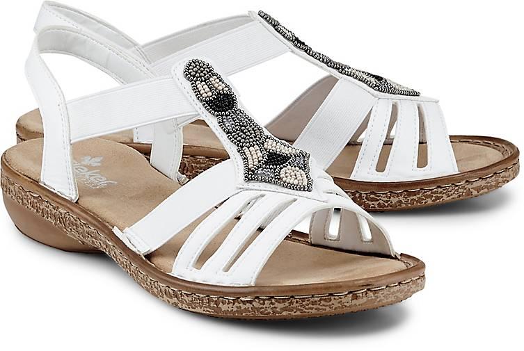 Sandalen von Rieker in Weiß für Damen
