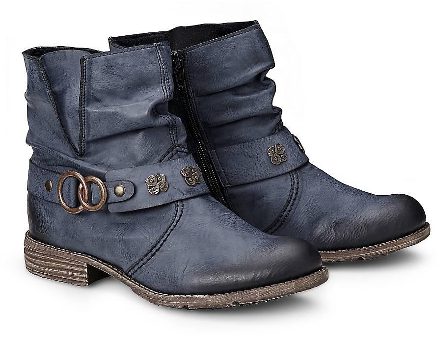rieker trend stiefelette boots blau dunkel g rtz. Black Bedroom Furniture Sets. Home Design Ideas