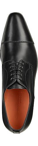 Santoni Derby-Schnürschuh in schwarz schwarz schwarz kaufen - 44316901 GÖRTZ Gute Qualität beliebte Schuhe 326224