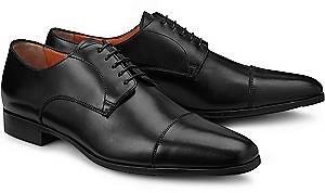 Santoni, Derby-Schnürschuh in schwarz, Business-Schuhe für Herren